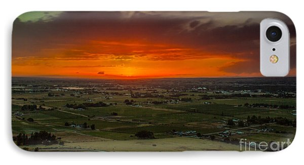 Sunset Over The Valley Phone Case by Robert Bales