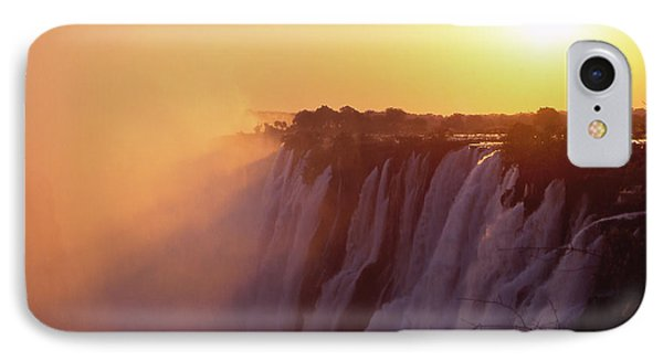 Sunset Over The Victoria Falls Phone Case by Alex Cassels