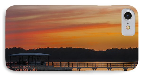 Sunset Over The Wando River IPhone Case by Dale Powell