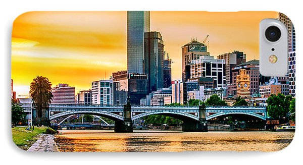 Sunset Over The Yarra IPhone Case