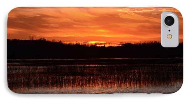 IPhone Case featuring the photograph Sunset Over Tiny Marsh by David Porteus