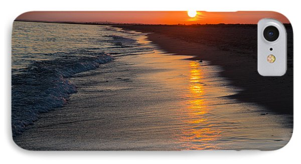 Sunset Over Vineyard Sound IPhone Case by Allan Morrison