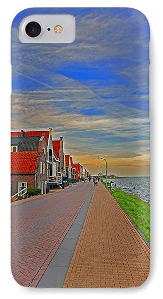Sunset Over Volendam IPhone Case