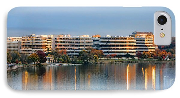 Sunset Over Watergate IPhone Case by Olivier Le Queinec