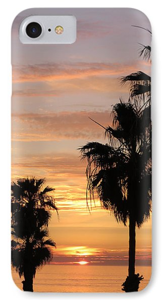 Sunset Palms IPhone Case by Charles Ables