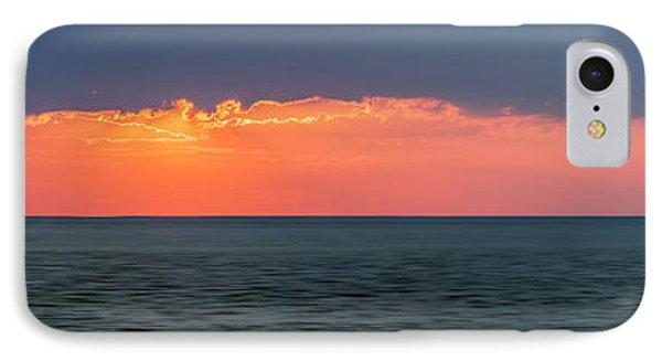 Sunset Panorama Over Ocean IPhone Case by Elena Elisseeva