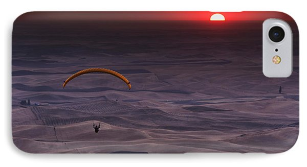 Sunset Paragliding IPhone Case by Mark Kiver