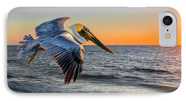 IPhone Case featuring the photograph Sunset Pelican by Brian Tarr
