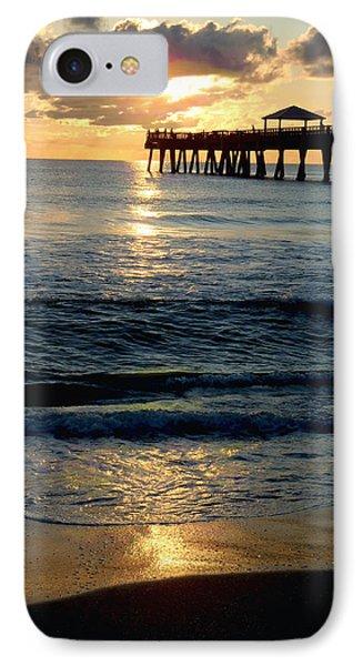 Sunset Pier IPhone Case by Carey Chen