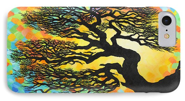 IPhone Case featuring the painting Sunset Pine by Jane Girardot