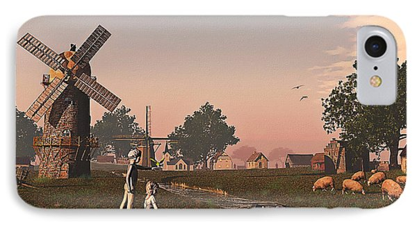 Sunset Play IPhone Case by Ken Morris