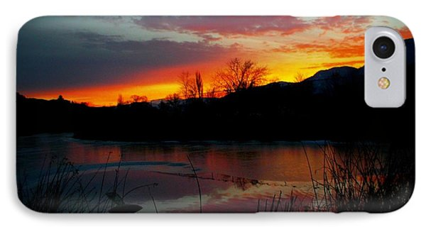 Sunset Pond IPhone Case by Guy Hoffman