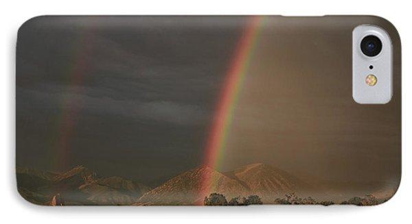 Sunset Rainbow Left IPhone Case by Eric Rundle