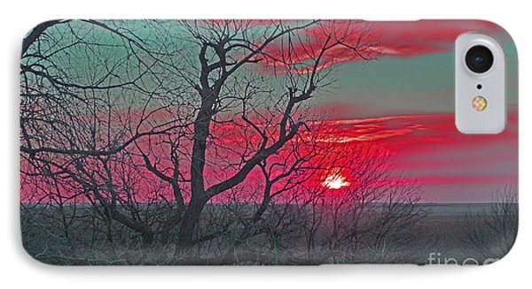Sunset Red Phone Case by Renie Rutten