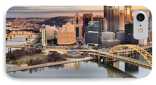 Sunset Reflections Of Pittsburgh IPhone Case