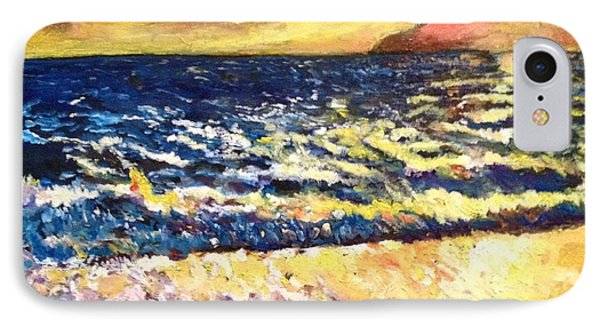IPhone Case featuring the painting Sunset Rest - Drama At Sea by Belinda Low
