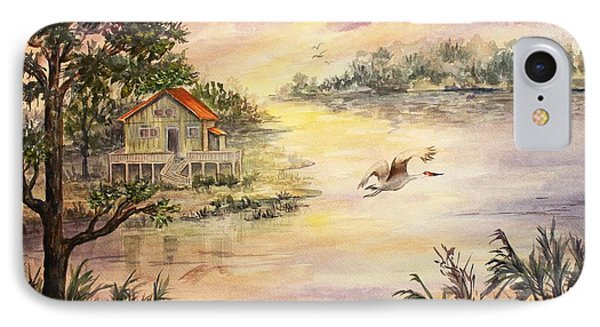 IPhone Case featuring the painting Sunset Retreat by Roxanne Tobaison