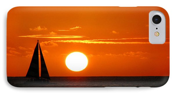 Sunset Sailing IPhone Case by Kristine Merc
