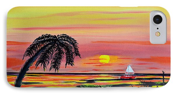 Sailing At Sunset IPhone Case by Melvin Turner