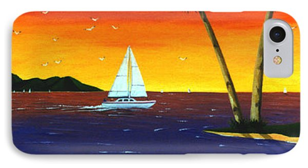 Sunset Sails IPhone Case by Lance Headlee