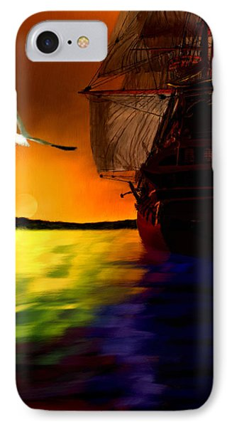 Sunset Sails IPhone Case by Lourry Legarde