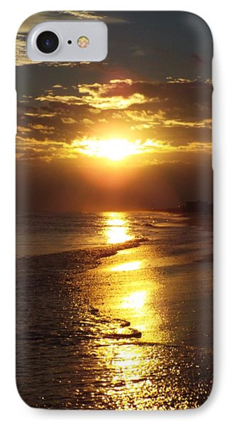 Sunset  Sand  Waves IPhone Case by Cindy Croal