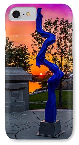 Sunset Sculpture IPhone Case