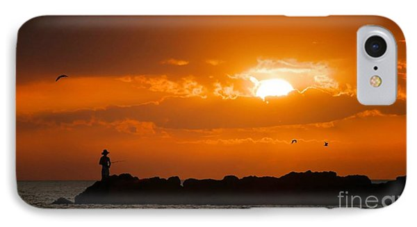 Sunset Serenity IPhone Case by Angela Murray