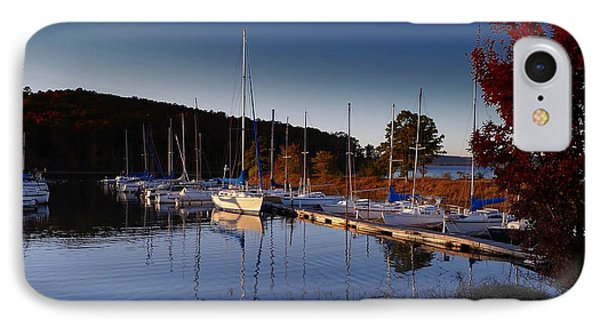 IPhone Case featuring the photograph Sunset Setting At The Marina by Renee Hardison