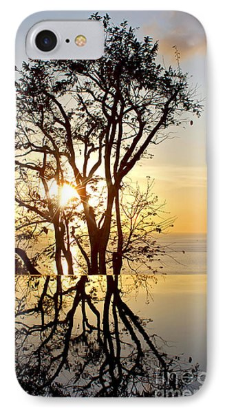 Sunset Silhouette And Reflections IPhone Case
