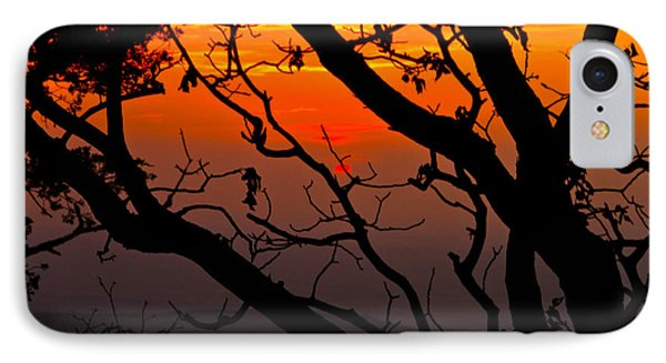 Sunset Silhouette IPhone Case by John Roberts