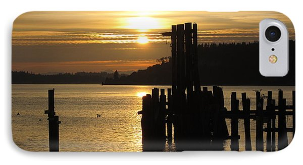 Sunset Silhouette IPhone Case by John Rossman