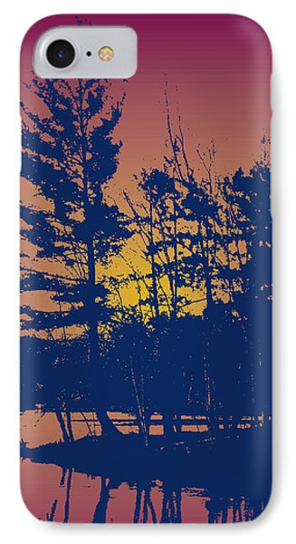 Sunset Silhouette IPhone Case by Larry Capra