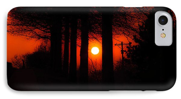 Sunset Silhouette Painterly Phone Case by Andee Design