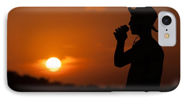 Sunset Silhouette IPhone Case by Richard Mason