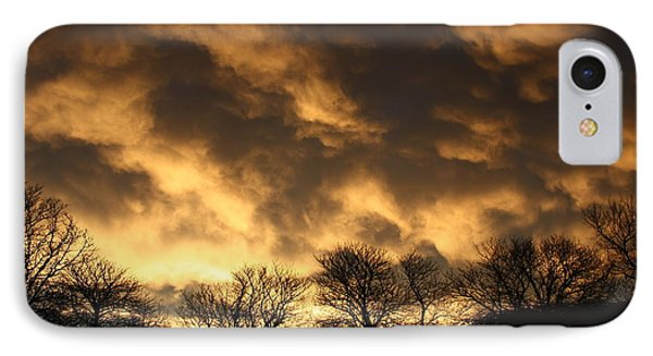 IPhone 7 Case featuring the photograph Sunset Silhouettes by Nareeta Martin