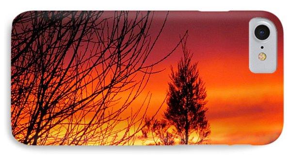Sunset Sky . Phone Case by Joyce Woodhouse