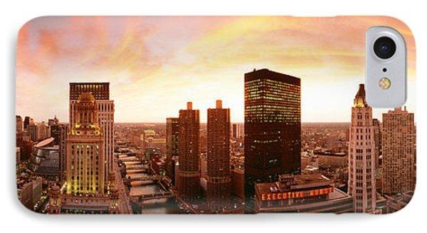 Sunset Skyline Chicago Il Usa IPhone Case