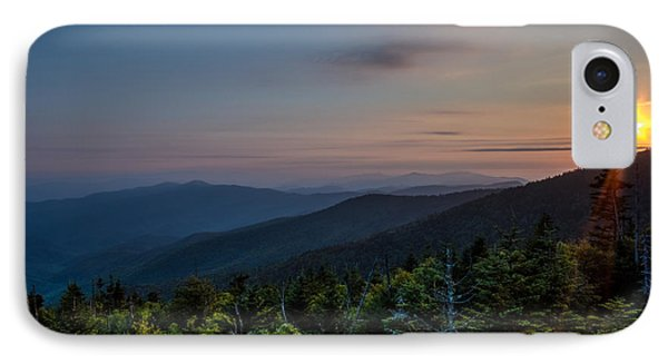 Sunset Smokey Mountains  IPhone Case by Kelly Marquardt
