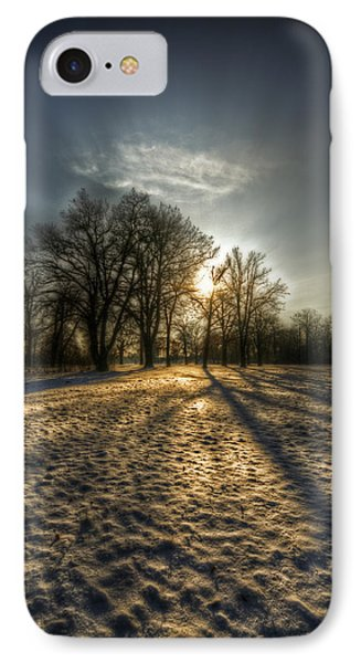 Sunset Snow Trees IPhone Case