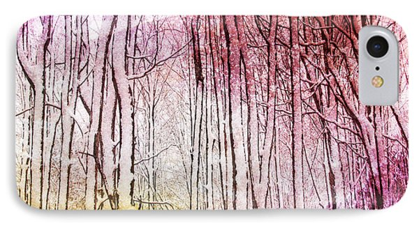 Sunset Snow Twigs IPhone Case by Kathi Mirto