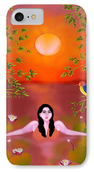 IPhone Case featuring the digital art Sunset Songs by Latha Gokuldas Panicker