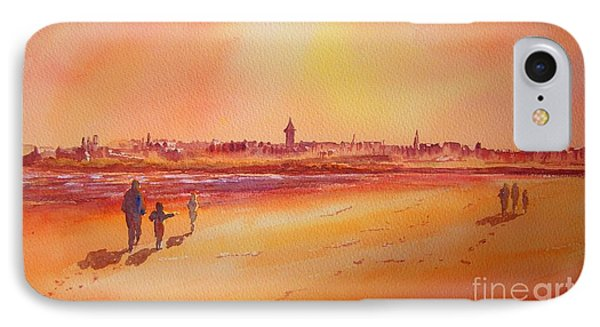 IPhone Case featuring the painting Sunset St Andrews Scotland by Beatrice Cloake
