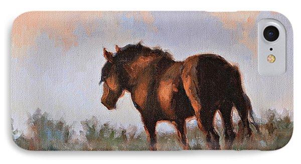 Sunset Stallion Phone Case by Karen McLain