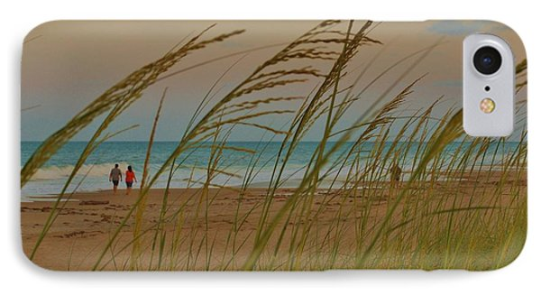 IPhone Case featuring the photograph Sunset Stroll by Lynda Dawson-Youngclaus
