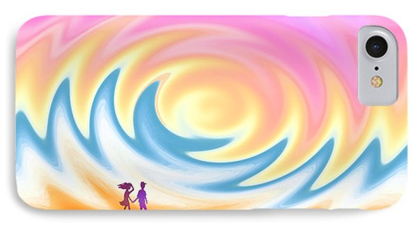 Sunset Stroll On A Windy Beach IPhone Case by Ginny Schmidt