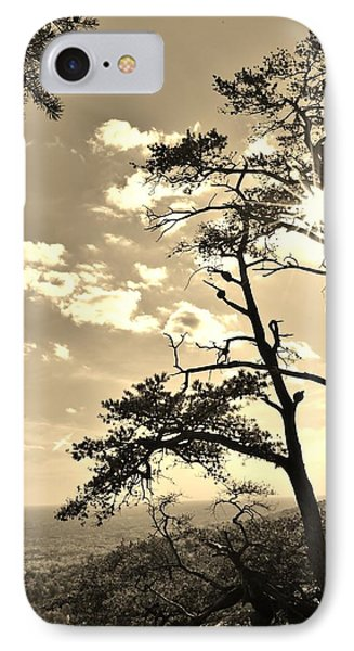 Sunset Sunburst Over Hanging Rock Nc IPhone Case