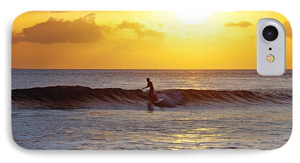 Sunset Surf Maui Phone Case by David Olsen