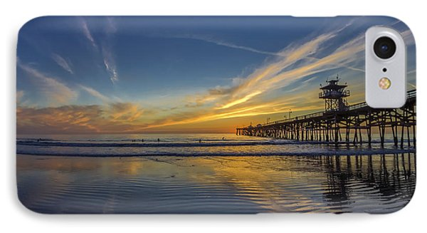 IPhone Case featuring the photograph Sunset Surf by Sean Foster