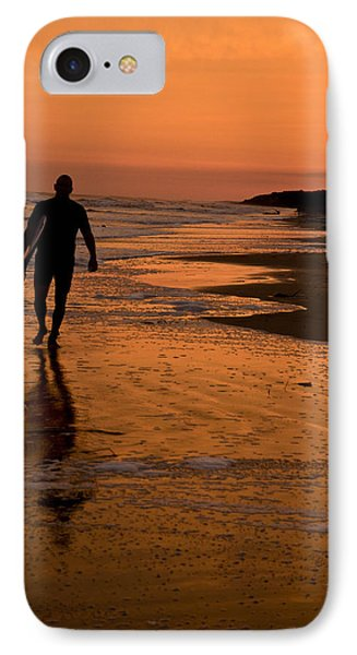 Sunset Surfer Hilton Head Sc IPhone Case by Sally Ross